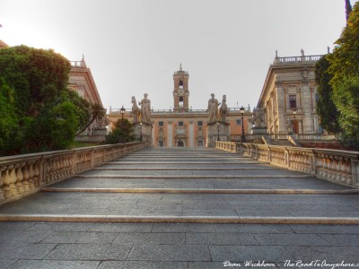 Path to Capitoline Hill in Rome, Italy