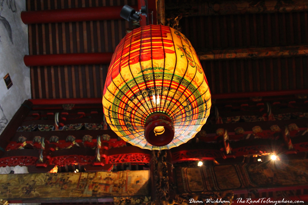 Lantern at Khoo Kongsi Clanhouse in George Town, Penang, Malaysia