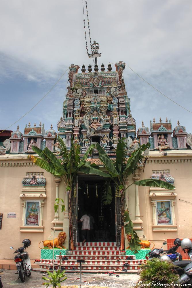 Sri Mahamariamman Temple in Little India in George Town, Penang, Malaysia