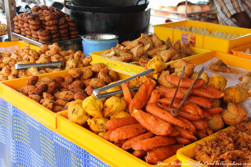 Street food snacks in Little India in George Town, Penang, Malaysia