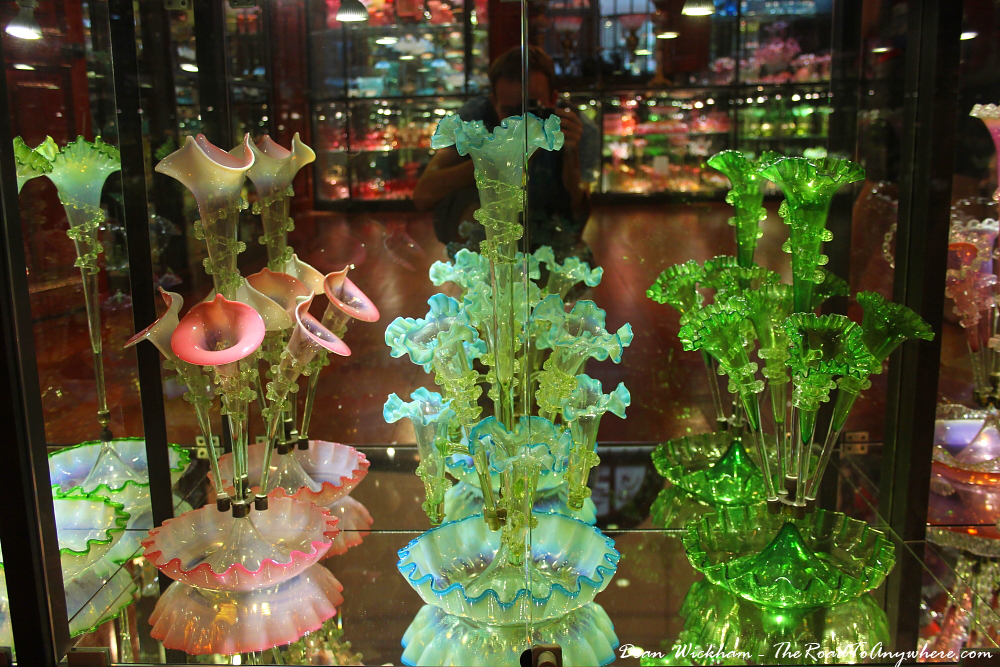 Antique glass ornaments in Pinang Peranakan Mansion in George Town, Malaysia