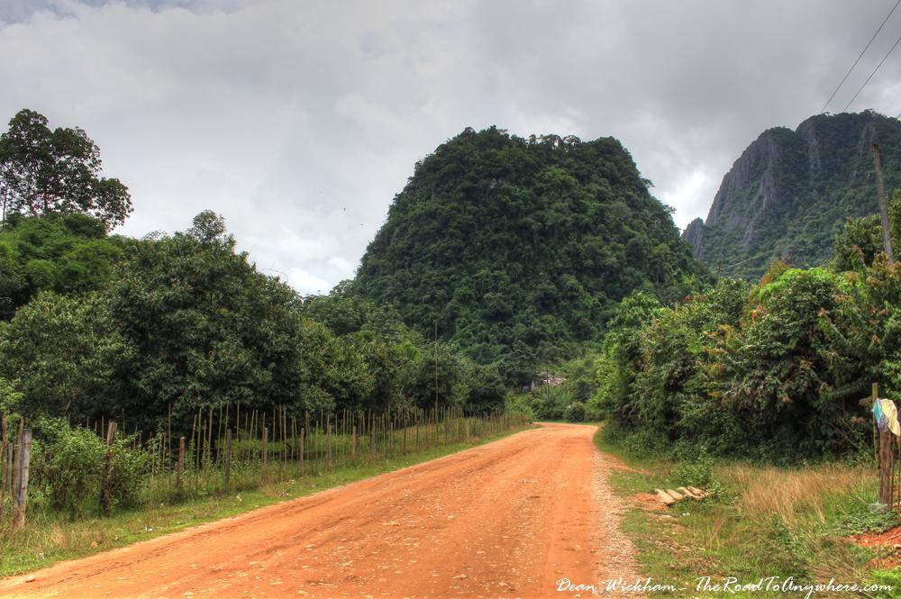 Country Road in Vang Vieng, Laos