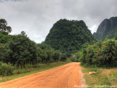 Country Road in Vang Vieng, Laos