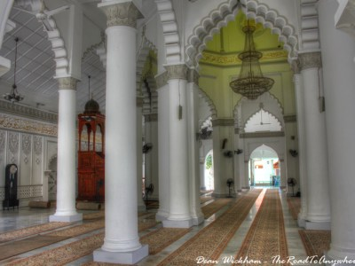 Prayer Hall at Kapitan Keling Mosque in George Town, Penang
