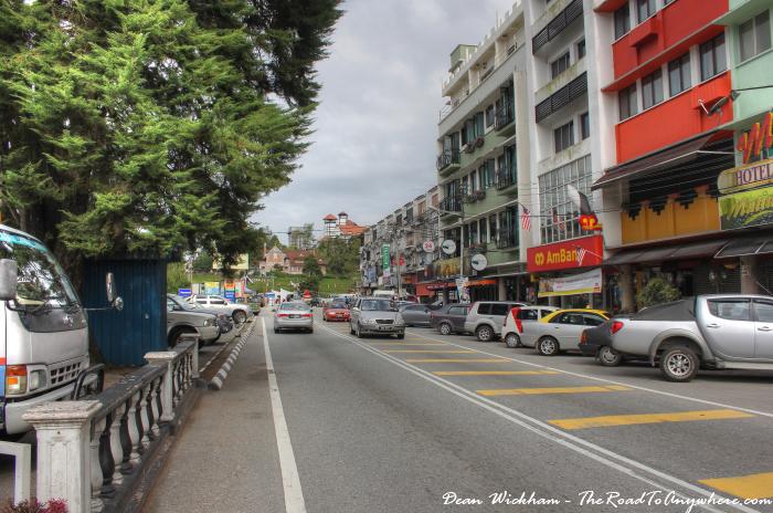 Main street in Tanah Rata, Cameron Highlands, Malaysia