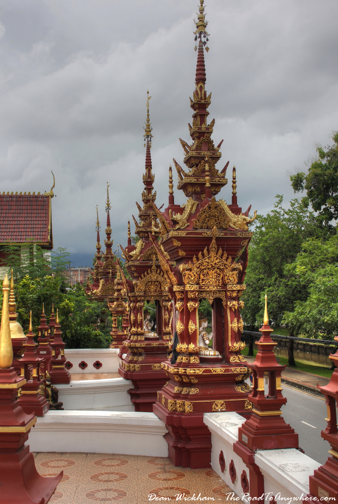 Chedis at Wat Monthian in Chiang Mai, Thailand