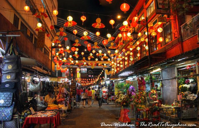 Lantern Lit Market in Chinatown, Kuala Lumpur