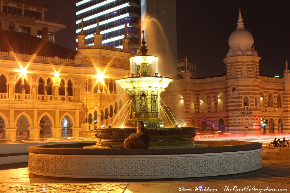 Fountain at Merdeka Square in Kuala Lumpur, Malaysia