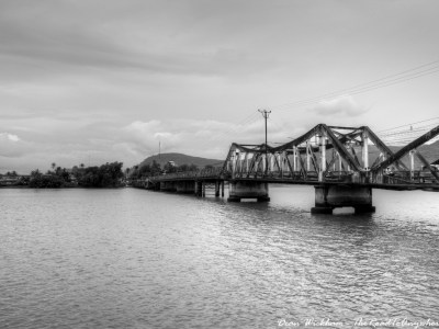 Bridge across the river in Kampot, Cambodia