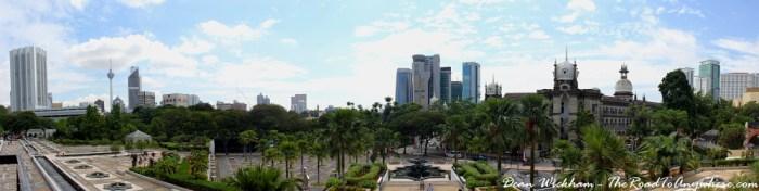 Panoramic view from Masjid Negara in Kuala Lumpur