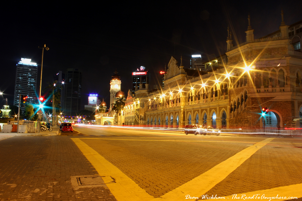 Street view of Sultan Abdul Samad Building at Merdeka Square in Kuala Lumpur, Malaysia