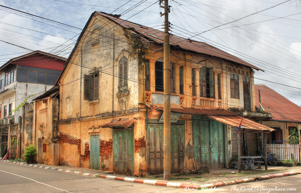 Old crumbling building in Savannakhet, Laos
