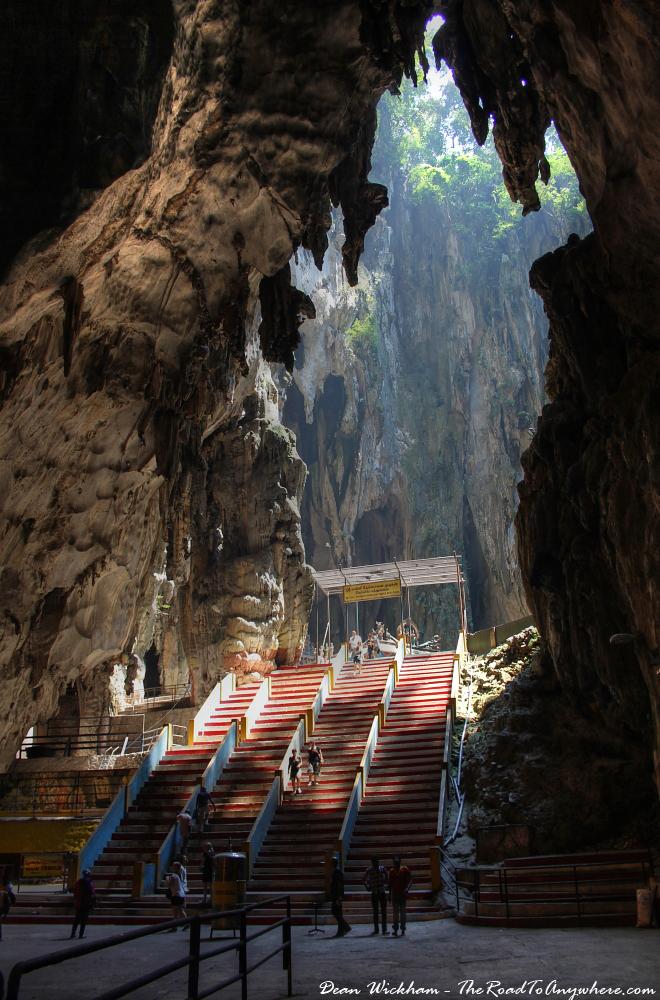 View to an open cavern at Batu Caves in Kuala Lumpur, Malaysia