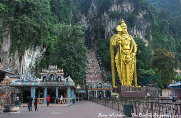 View to Batu Caves in Kuala Lumpur, Malaysia
