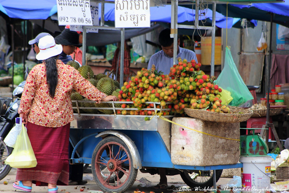 Fruit Cart in Battambang, Cambodia