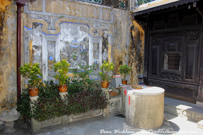 Courtyard in Tan Ky House in Hoi An, Vietnam