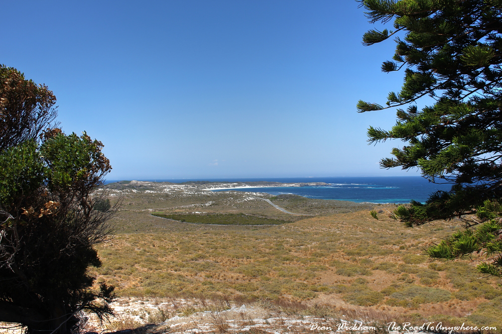 View from Wadjemup Lighthouse on Rottnest Island, Western Australia