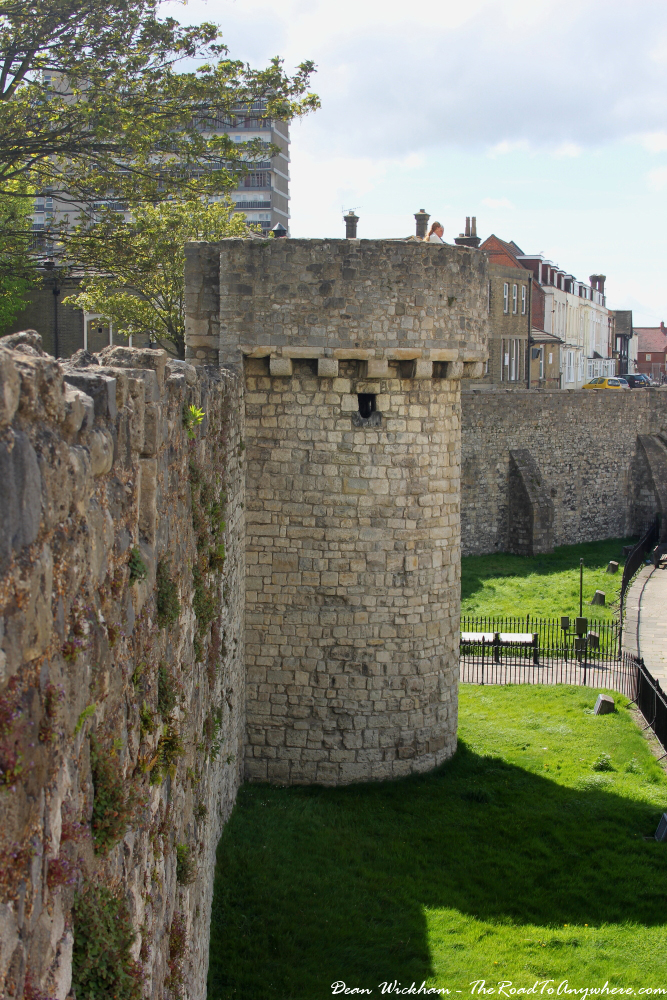 Walking the city walls in Southampton, England