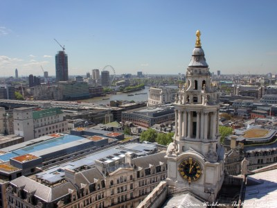View of London and a tower from St Paul's Cathedral