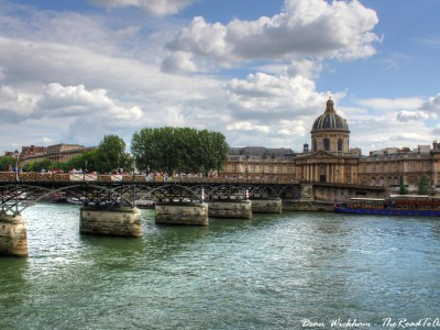 Pont des Arts and Institut de France in Paris, France