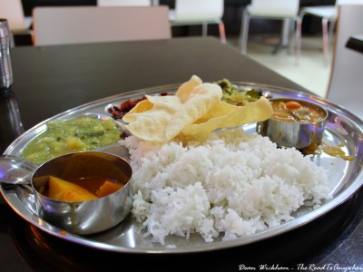 Plate of thali in George Town, Penang, Malaysia