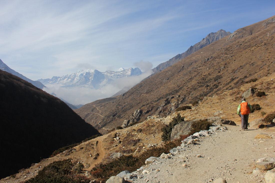 Trekking to Pangboche in Nepal