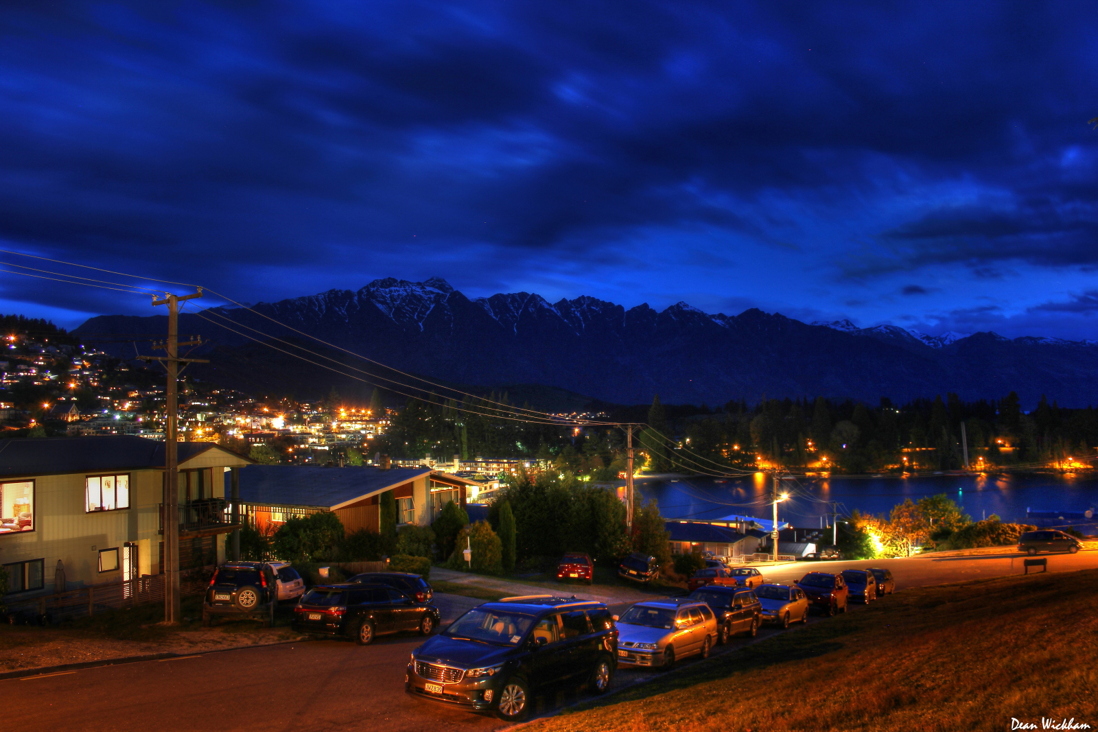 Queenstown and the Remarkables at Night