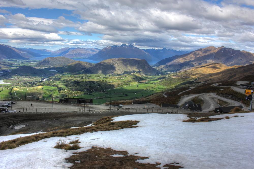 View from Coronet Peak New Zealand