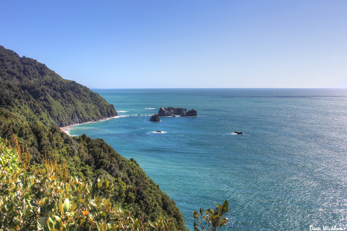 Rugged west coast of New Zealand's South Island