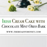 Chocolate Irish Creme Cake with Chocolate Mint Oreo Bark
