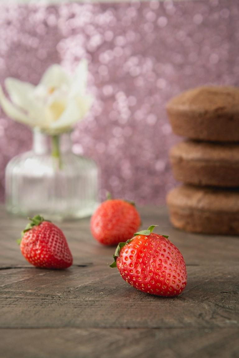Strawberries and Cream Brownie Cake
