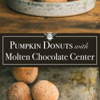 Pumpkin Brioche Donuts with Molten Chocolate Truffle Center