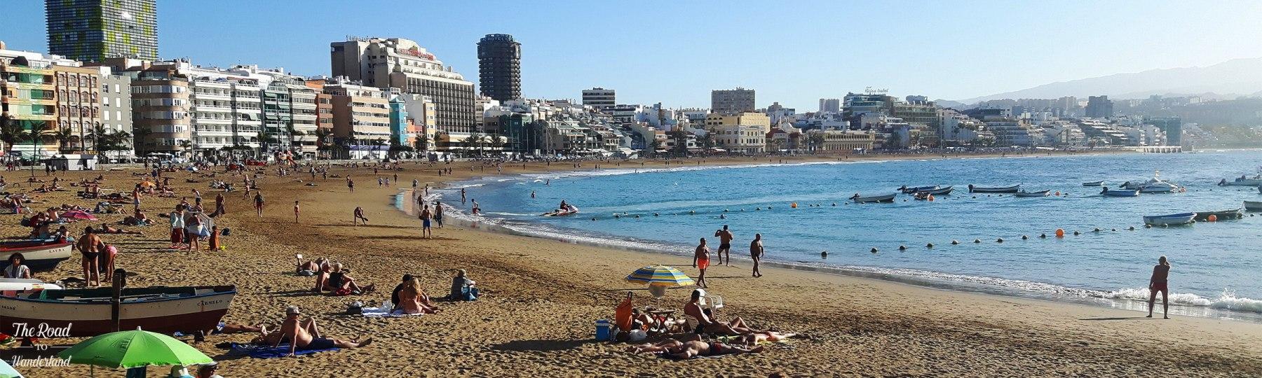 Goals for 2016 header: Las Canteras Beach, Las Palmas