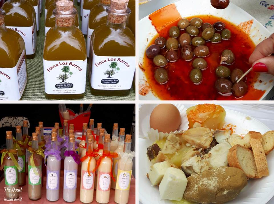 Traditional Canarian food & drink at the cheese festival