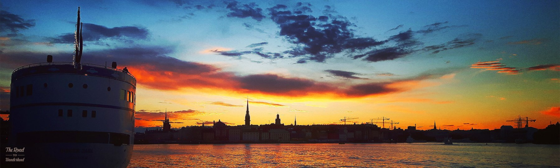 Stockholm at sunset