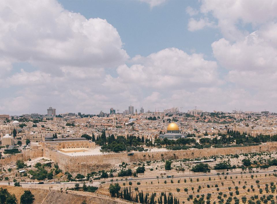 View over Jerusalem from the Mount of Olives
