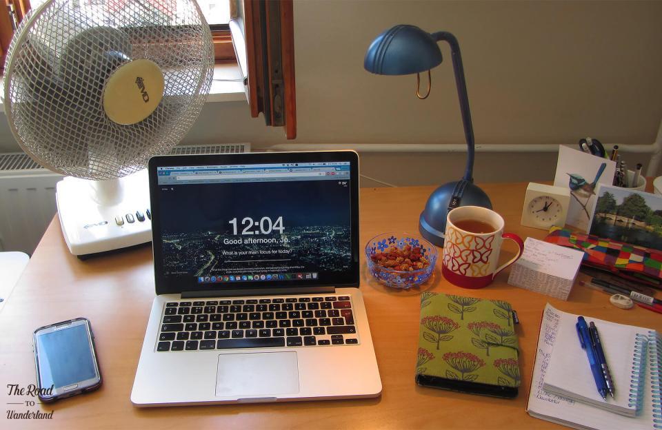My desk in Maribor, Slovenia