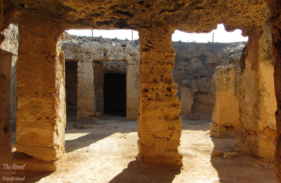 Inside Tomb 5, Tombs of the Kings, Paphos