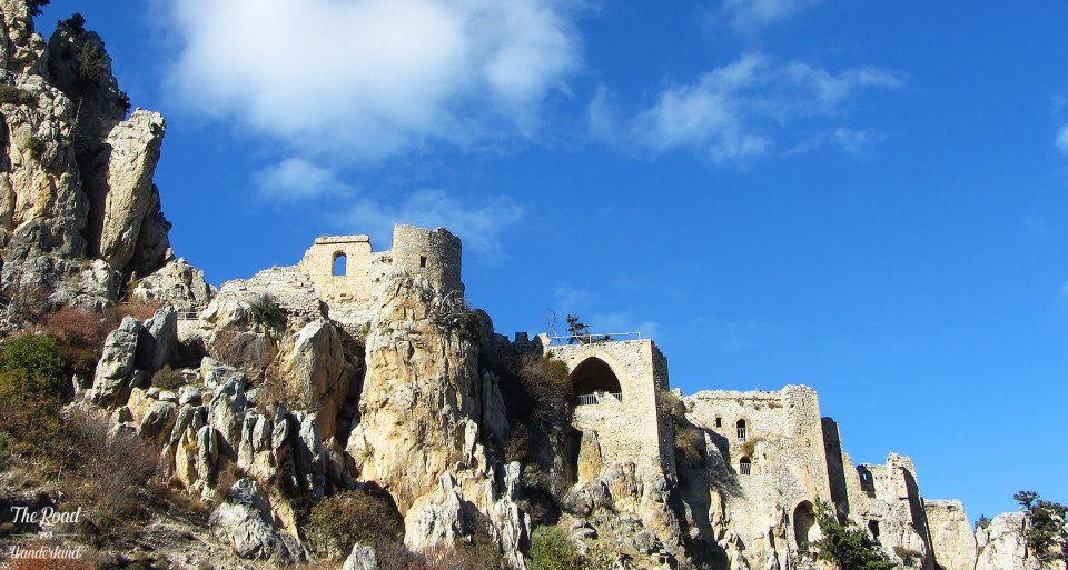 Looking up at St Hilarion Castle, North Cyprus