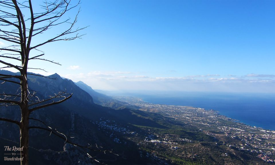 Looking north along the northwest coast of North Cyprus