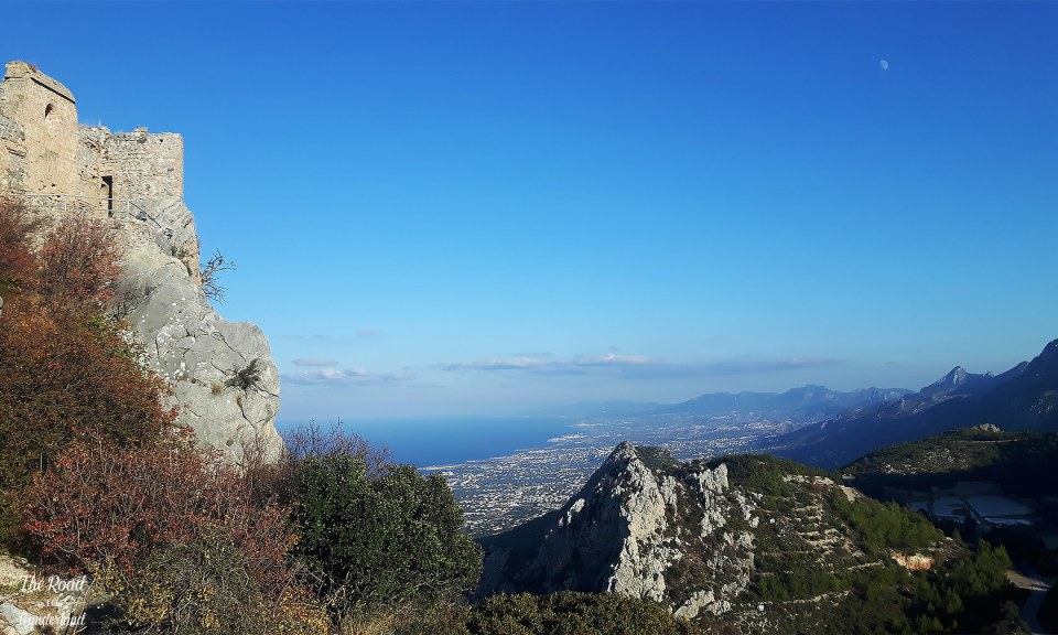 St Hilarion, the coast of Cyprus & the Kyrenia Mountains