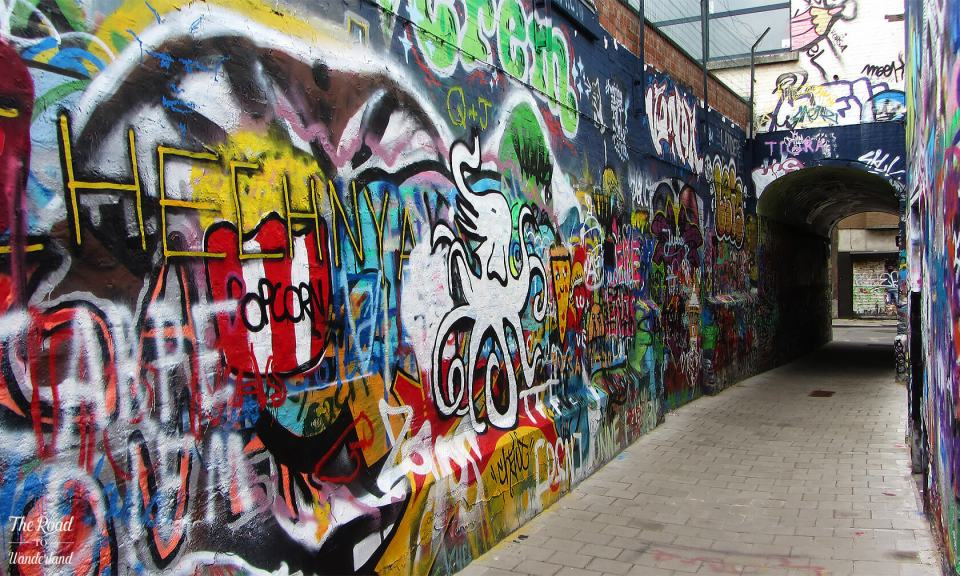 The alleyway at Graffiti Street, Ghent