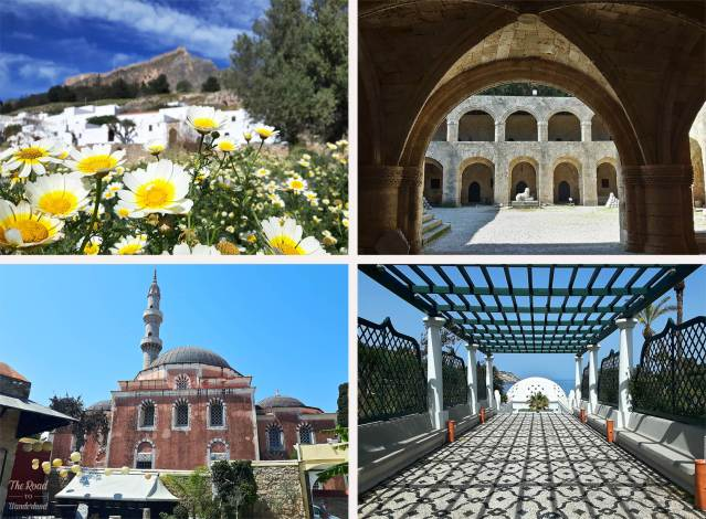 2018 Travel Review: Images from Rhodes, Greece – Lindos in the spring, Rhodes Archaeological Museum, Kallithea Springs, and Suleymaniye Mosque