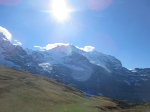 Jungfrau right in the middle