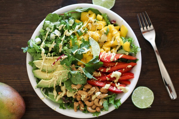 Chopped Thai Salad with Curry Coconut Dressing