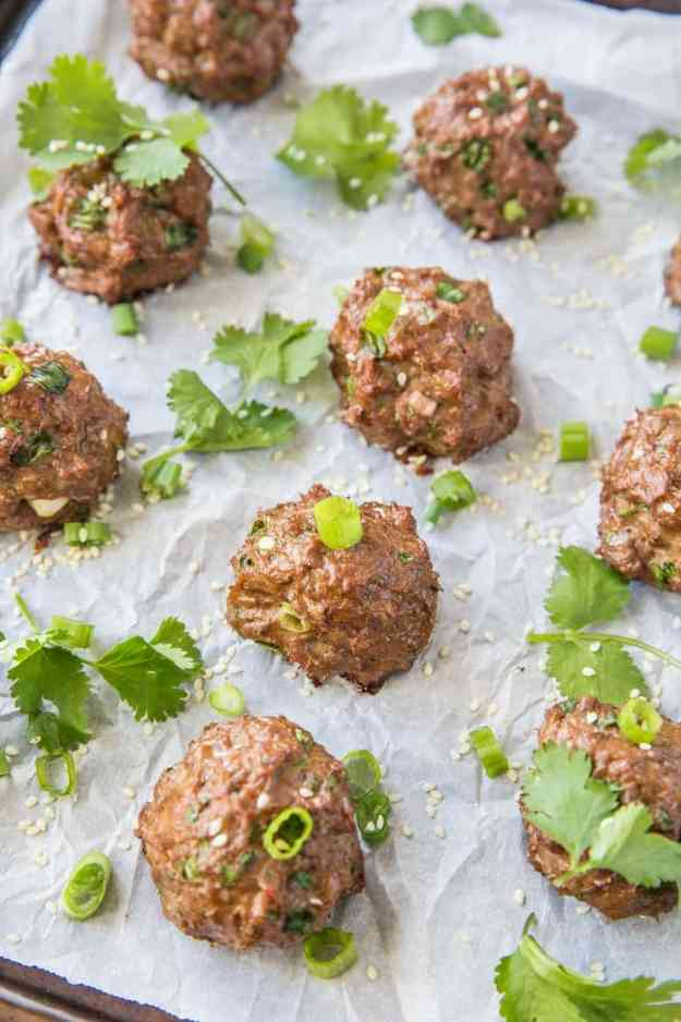 Thai Meatballs - keto, paleo, whole30, clean and delicious! | TheRoastedRoot.net