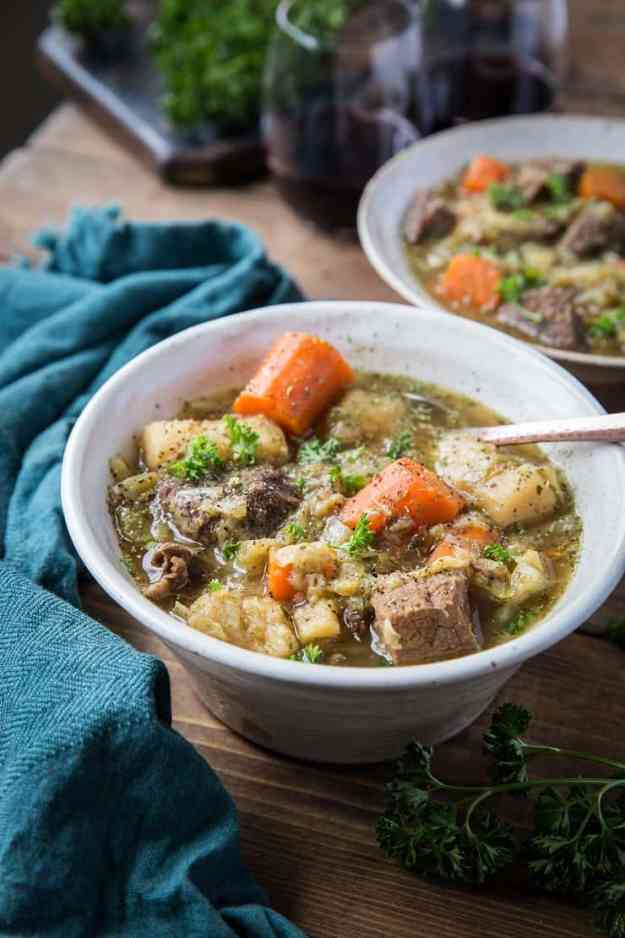 Instant Pot Paleo Irish Beef Stew - a nightshade-free, gluten-free stew recipe that is low-carb, paleo, whole30 recipe   TheRoastedRoot.net