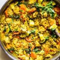One-Skillet Ground Turkey Thai Curry with Rice