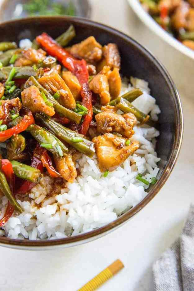30-Minute Chicken Teriyaki Stir Fry - a quick, easy, and healthy dinner recipe! | TheRoastedRoot.net #glutenfree #paleo