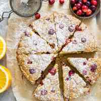 Grain-Free Cranberry Orange Breakfast Cake